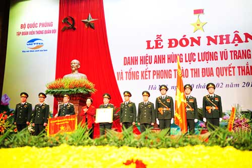 Viettel đón nhận danh hiệu Anh hùng Lực lượng vũ trang nhân dân