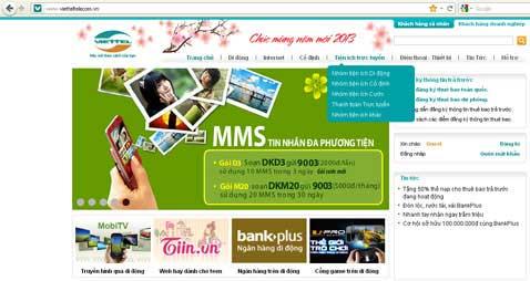 Nhắn tin đi quốc tế trên Viettel Telecom Portal