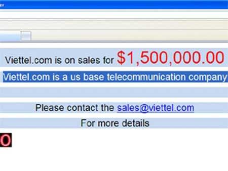 Tên miền Viettel.com được rao bán giá 1,5 triệu USD