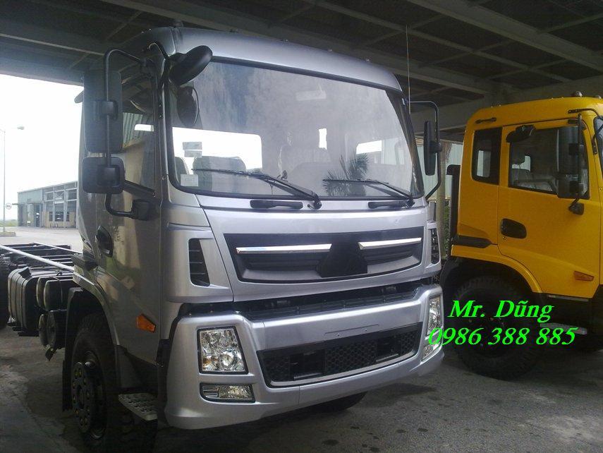 Báo giá xe tải, xe thùng cửu long 7 tấn, 7 tấn thùng cuu long, xe sát xi 7 tấn, thùng lửng, thùng mui phủ bạt