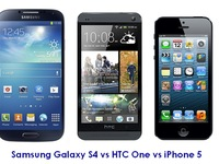 iPhone 5, Galaxy S4 v HTC One: &quot;Mo no cn mu no&quot;