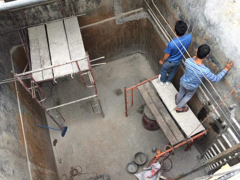 Bọc phủ bể chứa nước thải tại nhà máy Acecook Bắc Ninh