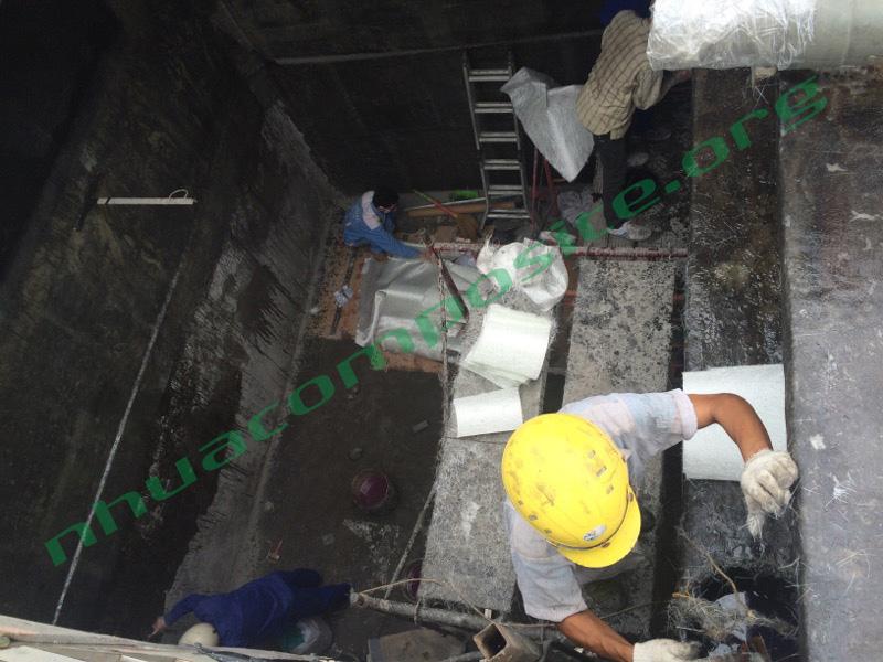 Bọc phủ bể chứa nước thải