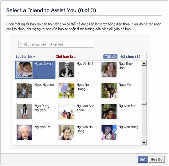 Khôi phục lại mật khẩu Facebook khi bị mất