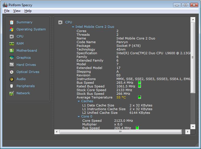 Kiểm tra cấu hình máy tính với Speccy
