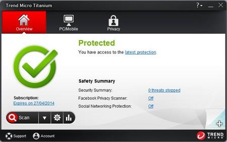 Tặng 1 năm sử dụng miễn phí Trend Micro Titanium Antivirus+ 2013