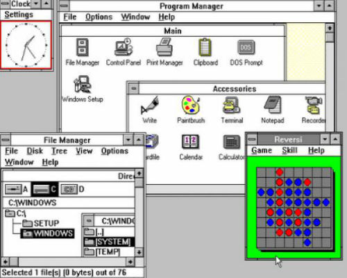 he dieu hanh windows 3.0