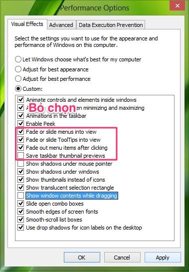 Cách tối ưu và tăng tốc Windows 8.1 hiệu quả
