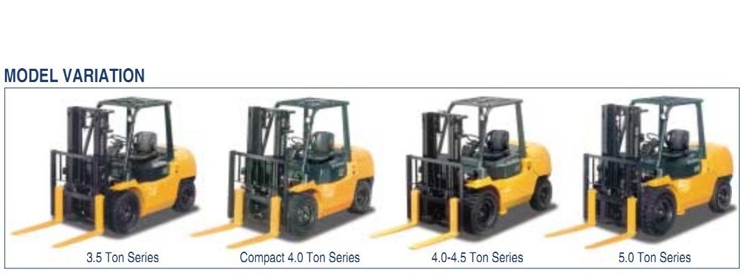 xe nâng dầu/gas Toyota từ 3-5 tấn