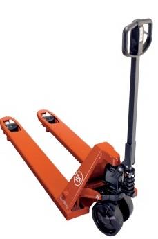 Xe nâng tay di chuyển, kéo và có thể nâng hàng hóa lên đến 20 cm