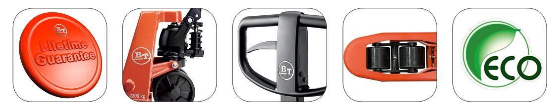 Các yếu tố nâng cao sự an toàn, tiện lợi, bền bỉ của xe nâng tay BT