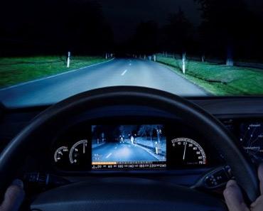 Camera quan sát đêm của Bosch trên Mercedes S-class