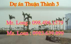 Biệt thự Thuận Thành 3,bán SL 2-5,liền kề Thuận Thành 3,giá rẻ