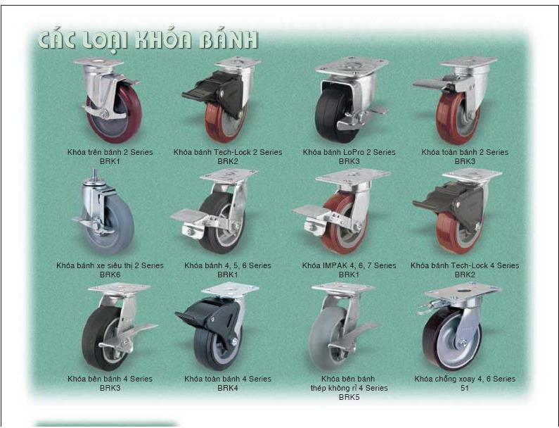 Các loại khóa bánh xe đẩy Colson