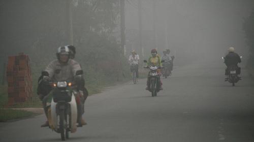 TP.HCM: Xuất hiện sương mù bức xạ