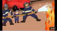 Cháu là lính cứu hỏa thực sự