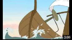 Cánh buồm trắng và mái chèo gỗ