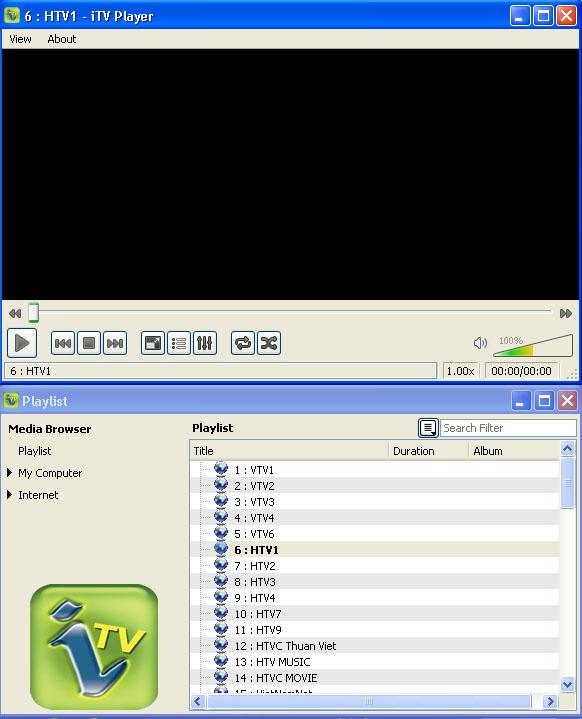 VLC 1.1.7 + List xem TV mạng FPT 99 kênh
