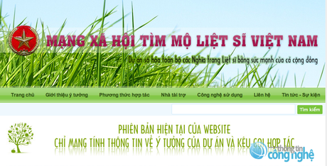 Lietsi.com – mạng xã hội giúp tìm mộ liệt sĩ