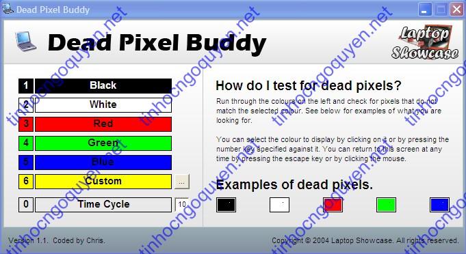 DeadPixelBuddy - Phần mềm kiểm tra LCD, màn hình laptop