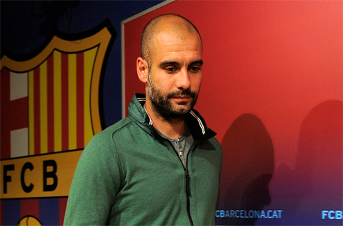 Pep Guardiola chia tay Barca