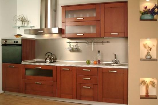 Tủ bếp gỗ Xoan đào - T02
