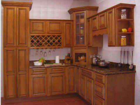Tủ bếp gỗ Xoan đào - T01