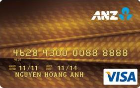 thẻ tín dụng vàng ANZ Bank , Credit card gold ANZ Bank