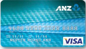 Thẻ tín dụng chuẩn ANZ Bank