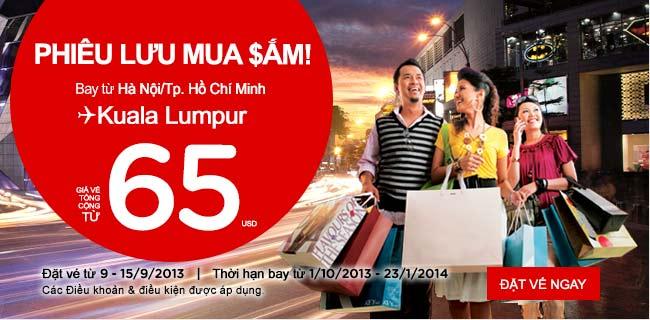 Hà Nội - Hồ Chí Minh đi Kualalumpur chỉ từ 65USD