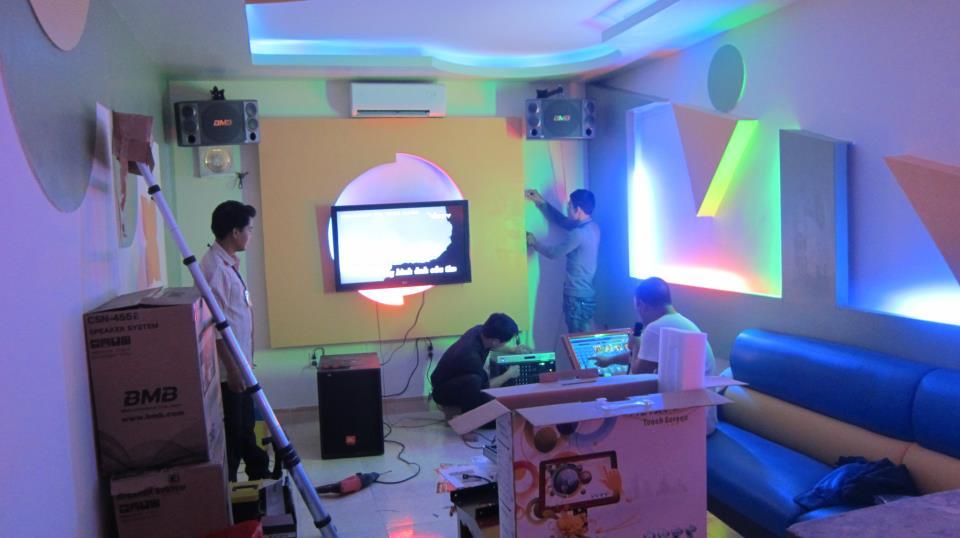Lắp đặt âm thanh phòng karaoke chất lượng