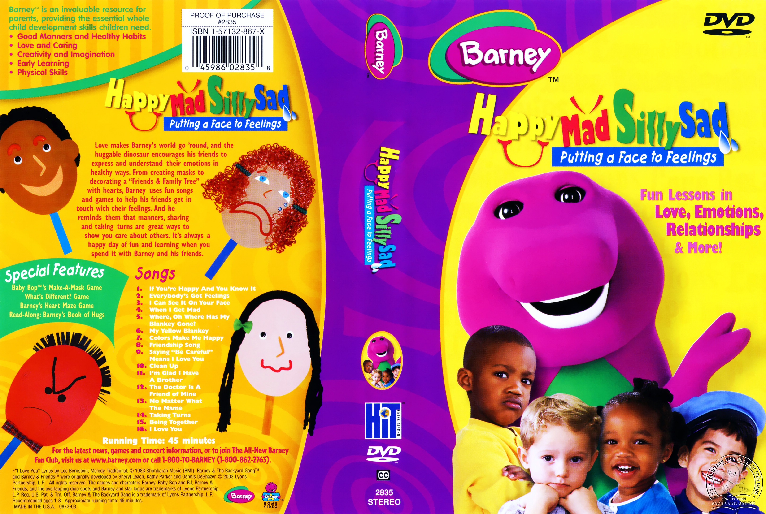 03-Barney Happy Sad Silly Mad - Cover