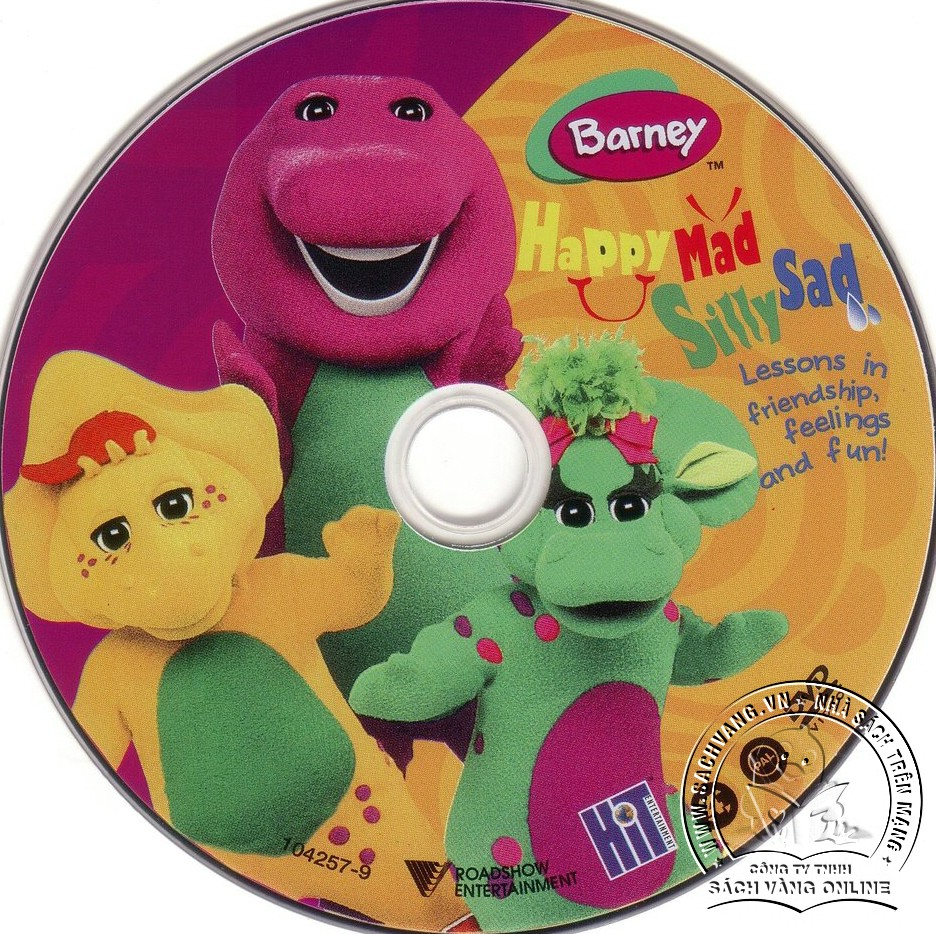 03-Barney Happy Sad Silly Mad - Lebel