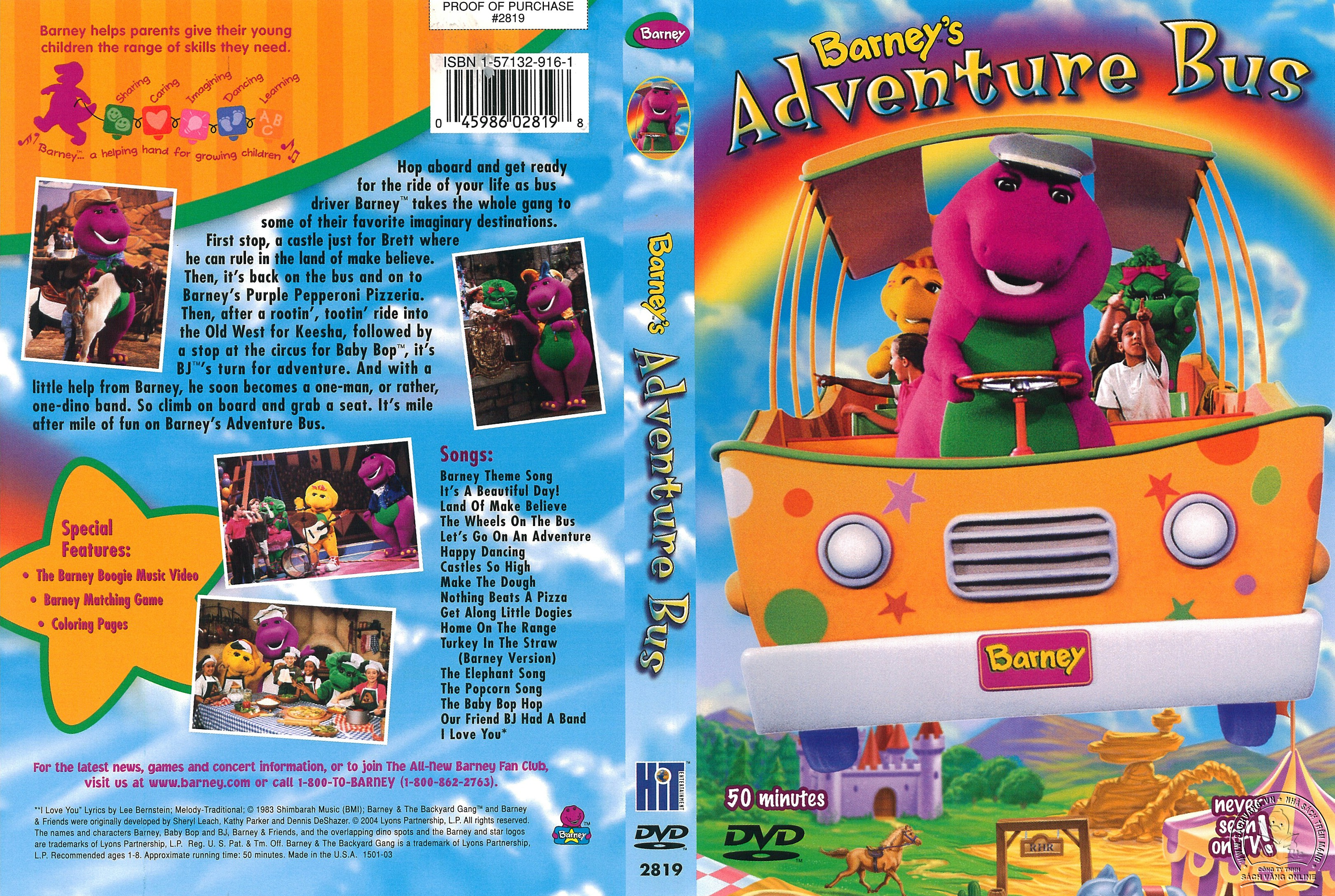 07-Barney Adventure Bus - Cover