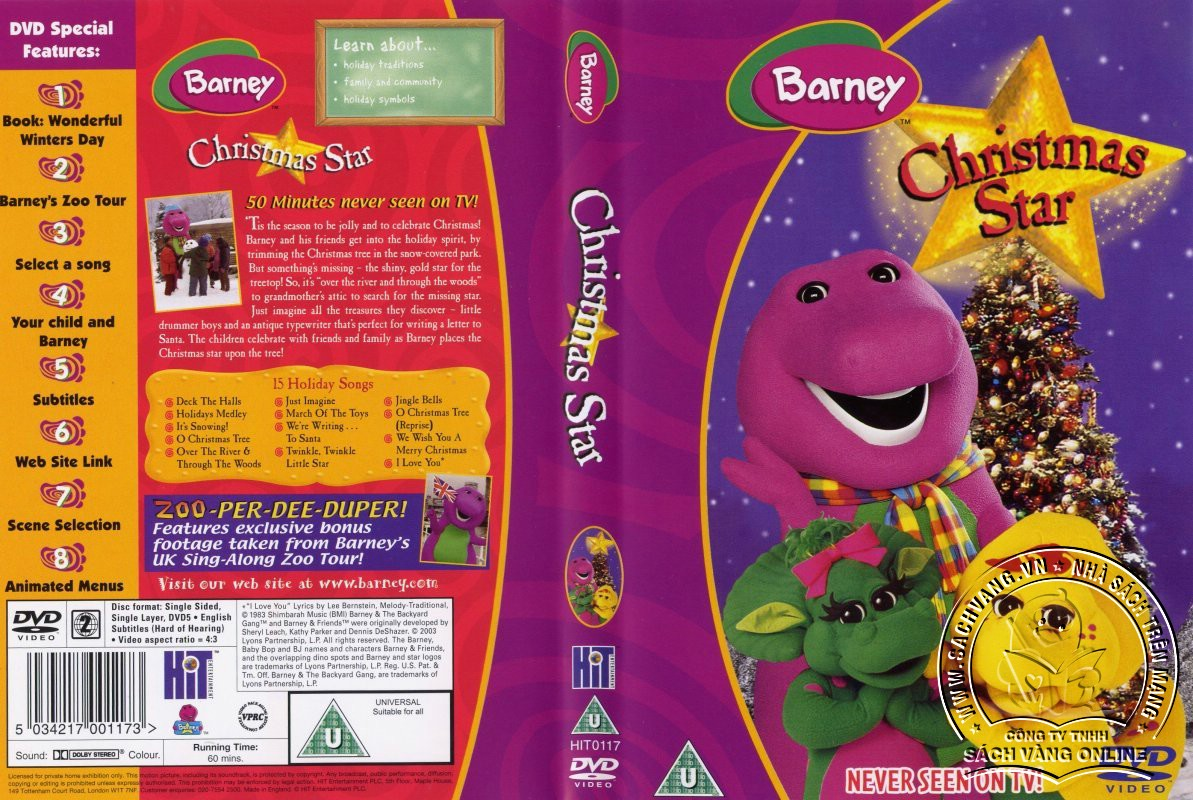 The Best of Barney and Friends - DVD Khủng Long Tím Hay Nhất
