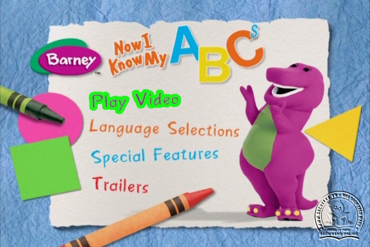 The Best of Barney and Friends - DVD Khủng Long Tím Hay Nhất - Menu DVD 01