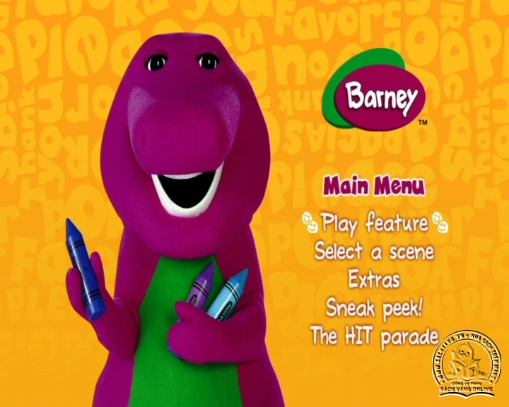 The Best of Barney and Friends - DVD Khủng Long Tím Hay Nhất - Menu DVD 02