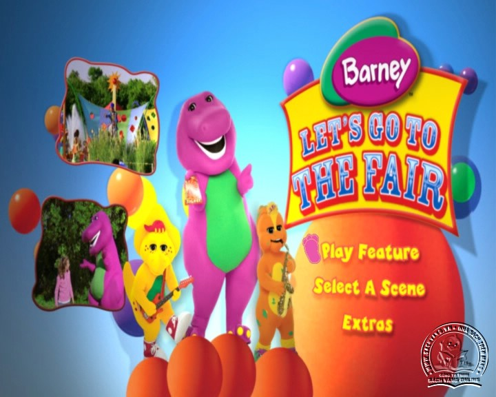 The Best of Barney and Friends - DVD Khủng Long Tím Hay Nhất - Menu DVD 04