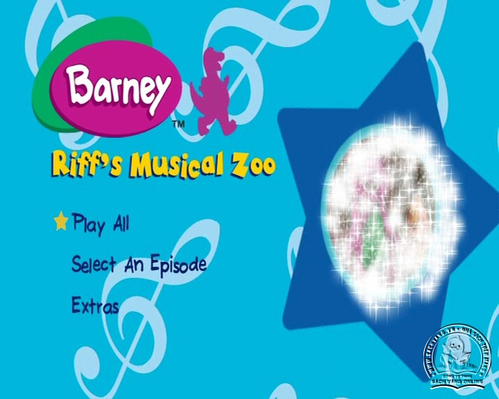 The Best of Barney and Friends - DVD Khủng Long Tím Hay Nhất - Menu DVD 05