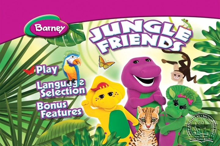 The Best of Barney and Friends - DVD Khủng Long Tím Hay Nhất - Menu DVD 08