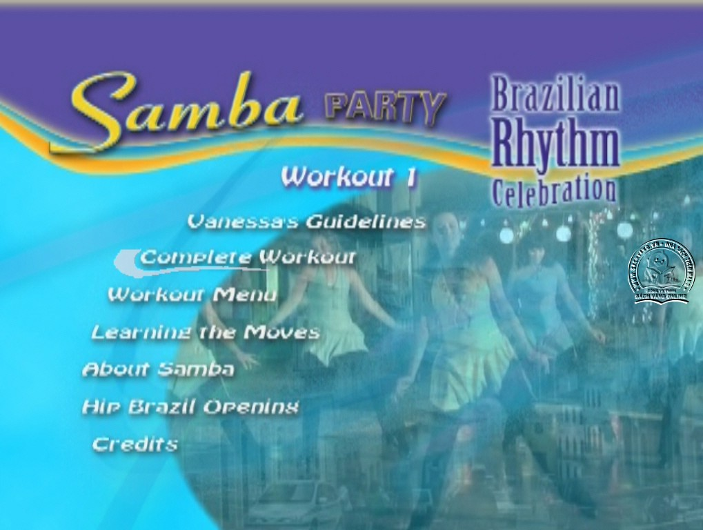Samba Party Workout 1 - Brazilian Rhythm Celebration dvd menu