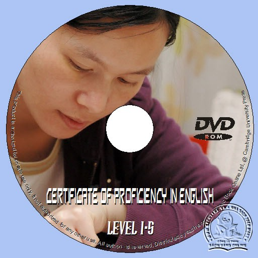 The Cambridge Certificate of Proficiency in English Level 1-5 lebel