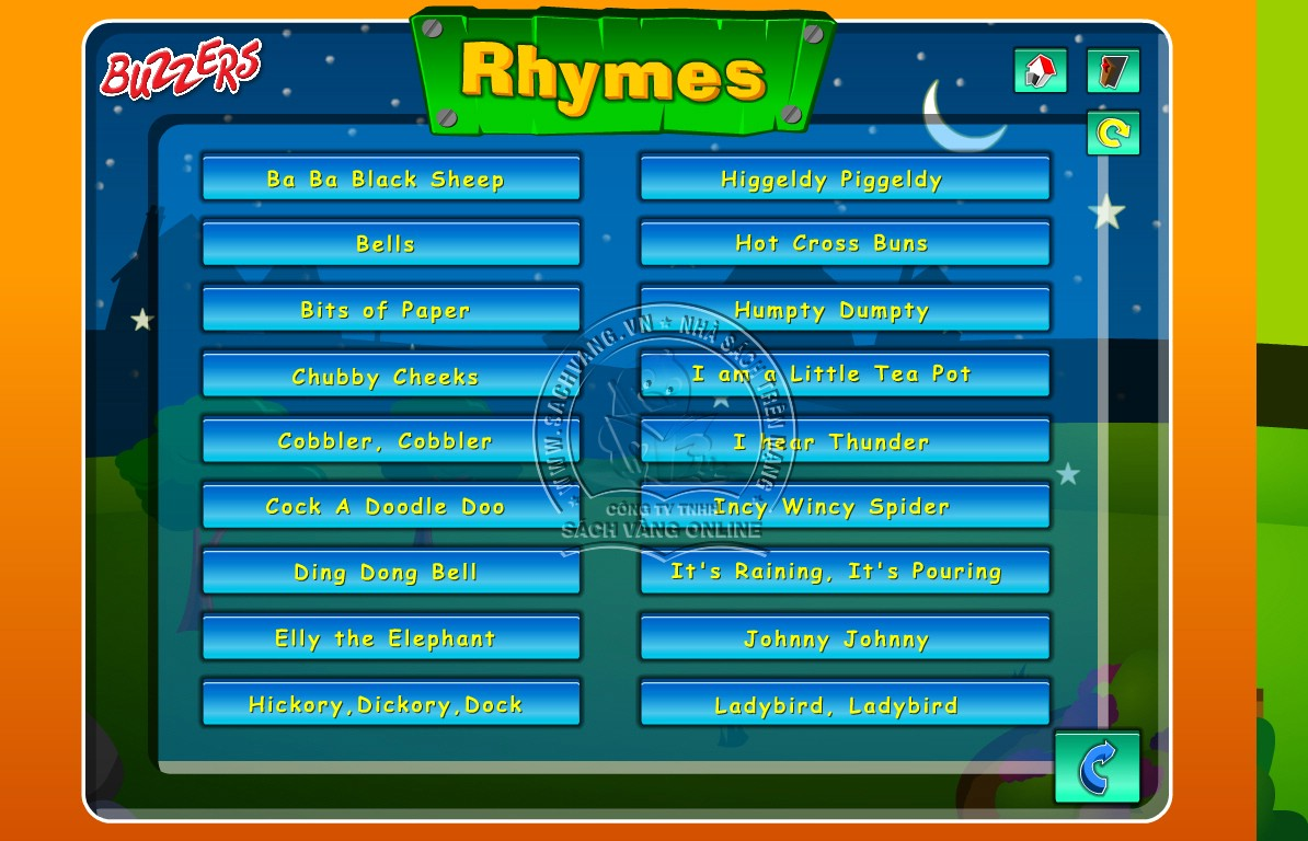Buzzers Nursery Rhymes - 1