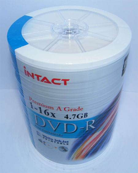 DVD-R iNTACT White Lốc 100 DVDs