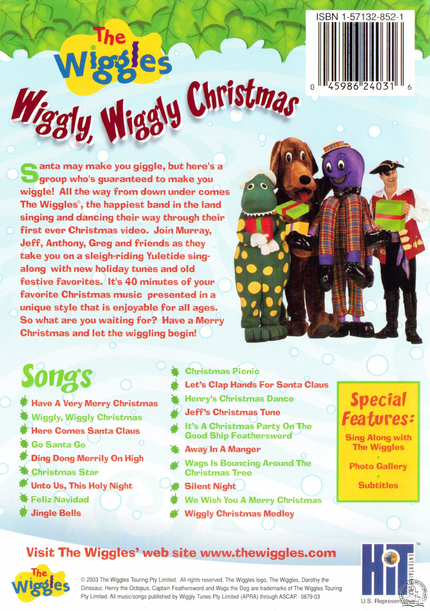 The Wiggles - Wiggly Wiggly Christmas back