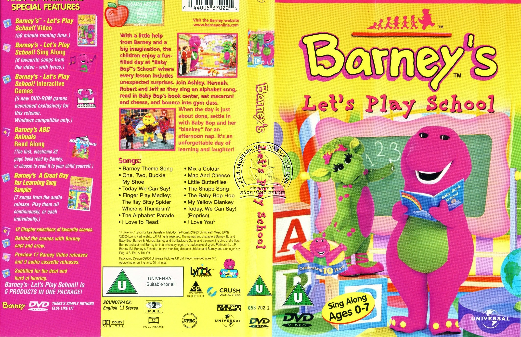 Barney Let's Play School - Cover