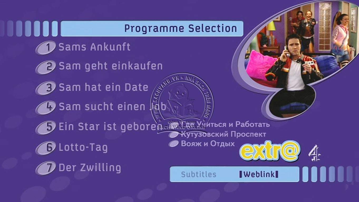Learn German With Extra - DVD menu 1