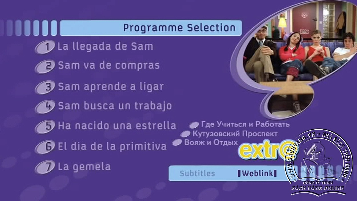 Learn Spanish With Extra - DVD 1 Menu