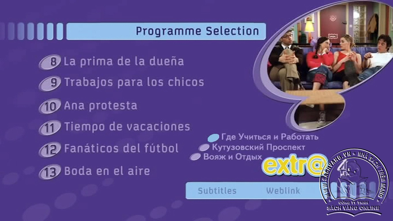 Learn Spanish With Extra - DVD 2 Menu
