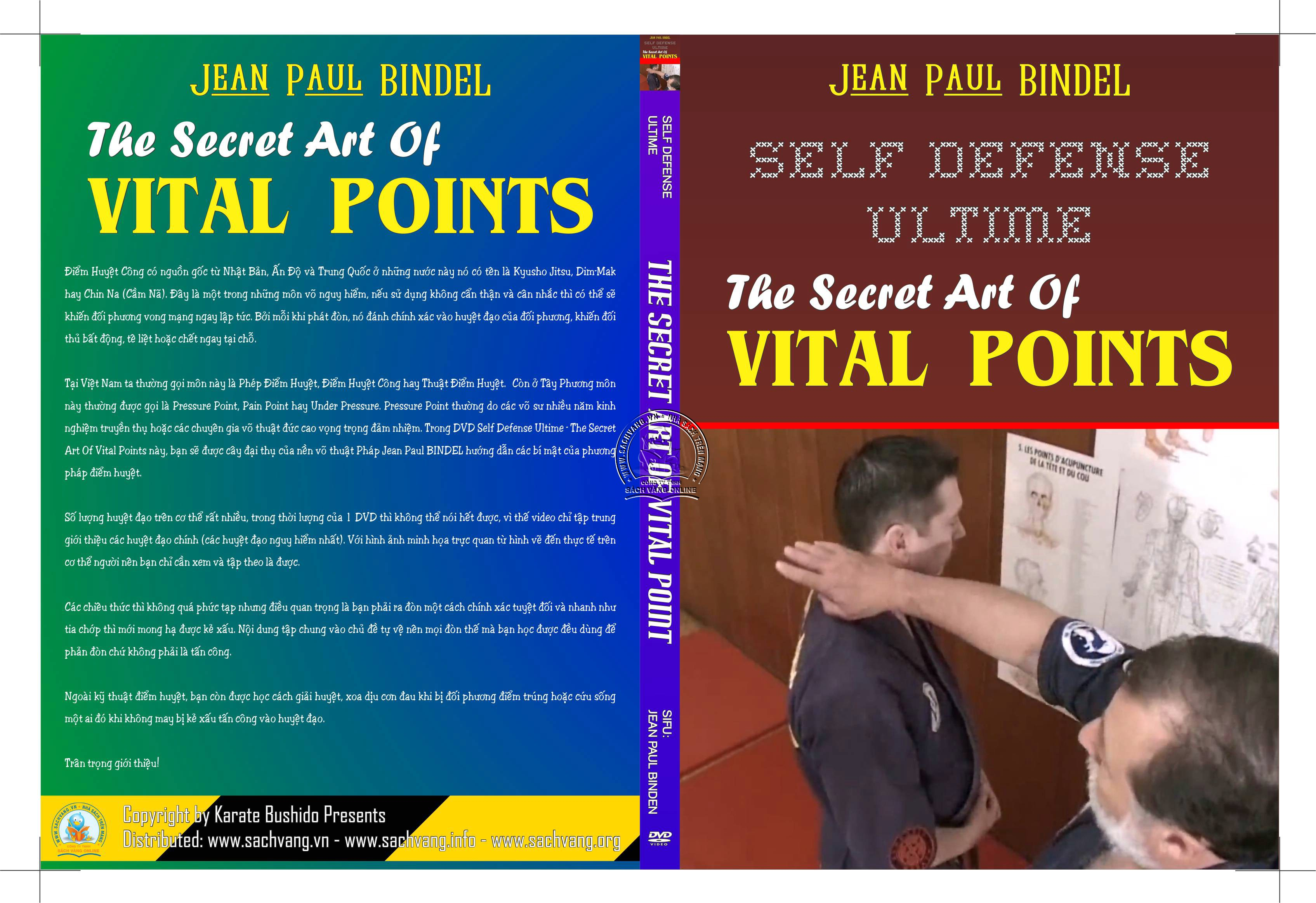Self Defense Ultime - The Secret Art Of Vital Points - Kỹ Pháp Điểm Và Giải Huyệt - Cover